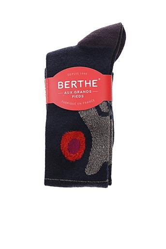 Chaussettes bleu BERTHE AUX GRANDS PIEDS pour femme