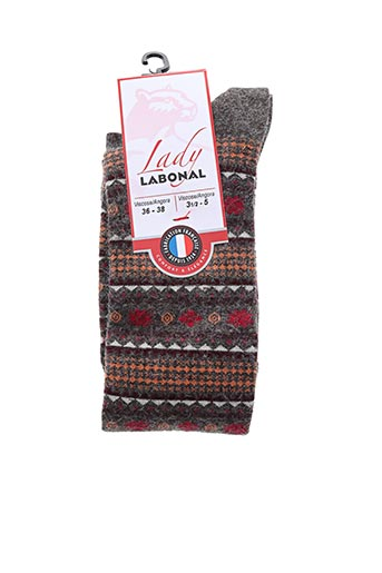 Chaussettes marron LABONAL pour femme