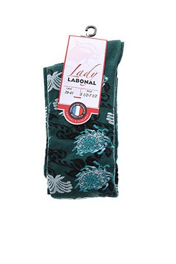 Chaussettes vert LABONAL pour femme