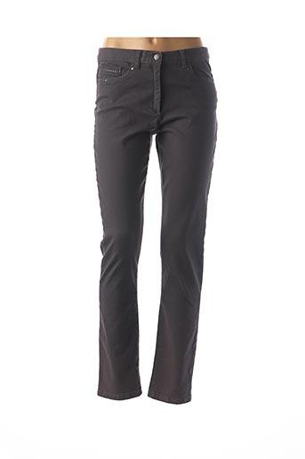 Pantalon casual gris CHRISTINE LAURE pour femme