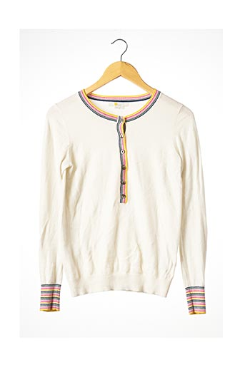 Pull col rond beige BODEN pour femme