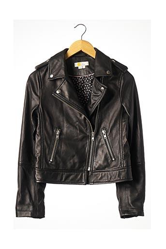 Veste simili cuir noir BODEN pour femme