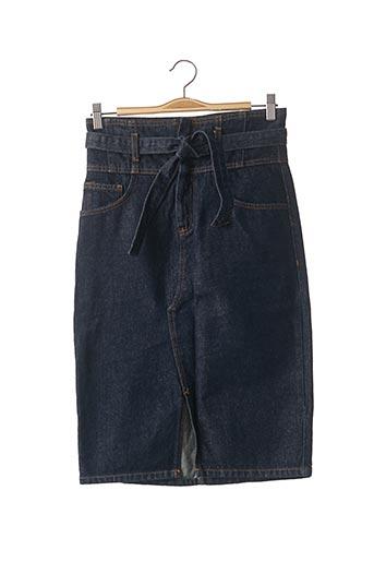 Jupe mi-longue bleu MANGO pour femme