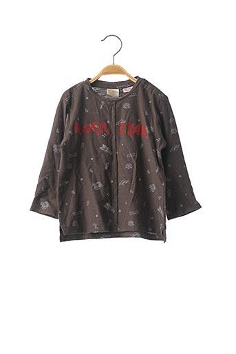 T-shirt manches longues gris ZARA pour garçon