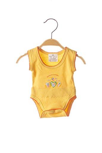 Body lingerie jaune SANS MARQUE pour enfant