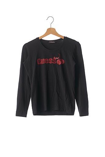 T-shirt manches longues noir GUESS JEANS pour femme