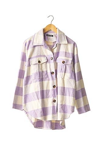Manteau court violet BOOHOO pour femme