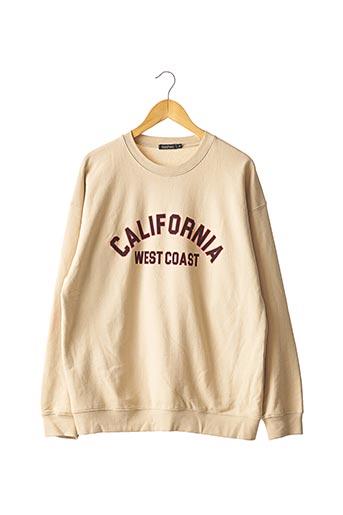 Sweat-shirt beige BOOHOO pour femme