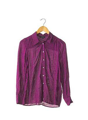 Chemisier manches longues violet CAROLL pour femme