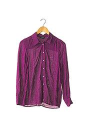 Chemisier manches longues violet CAROLL pour femme seconde vue