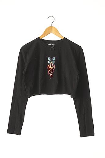 T-shirt manches longues noir NEW GIRL ORDER pour femme
