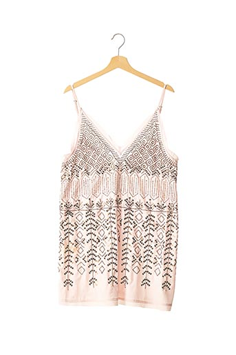 Robe courte rose FREE PEOPLE pour femme