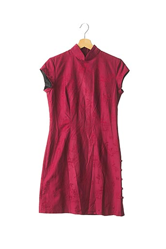 Robe courte rouge SHANGHAI TANG pour femme