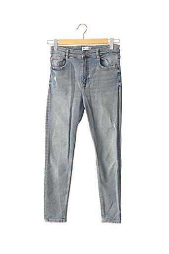 Jeans coupe slim bleu ZARA pour femme