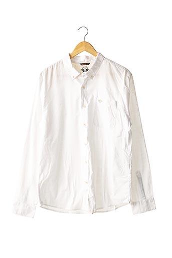Chemise manches longues blanc DOCKERS pour homme