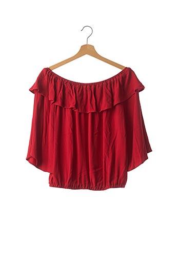 Blouse manches longues rouge BA&SH pour femme