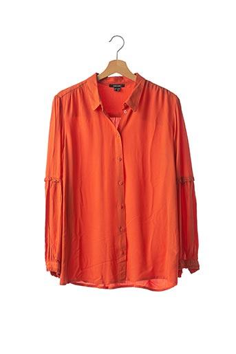 Chemisier manches longues orange ESMARA pour femme