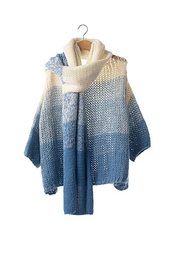 Pull col rond bleu LEE AND ME pour femme