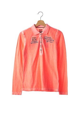Polo manches longues rose GAASTRA pour femme