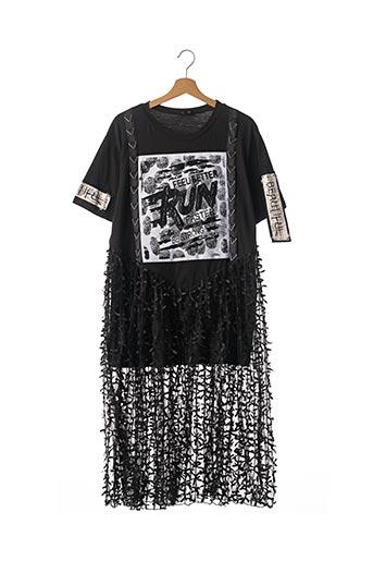 Robe longue noir AÏKHA pour femme
