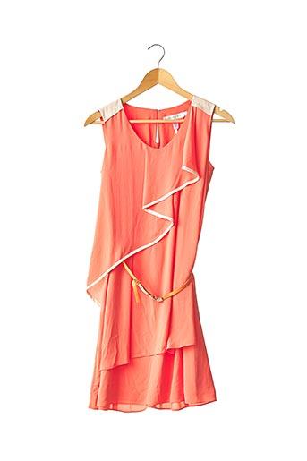 Robe mi-longue orange MORINE COMTE MARRANT pour femme