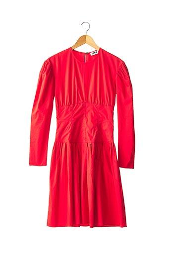 Robe mi-longue rouge SONIA RYKIEL pour femme