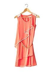 Robe mi-longue orange MORINE COMTE MARRANT pour femme seconde vue