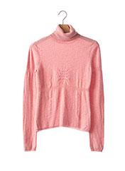 T-shirt long rose PAULE KA pour femme seconde vue