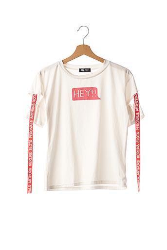 T-shirt manches courtes blanc BANQISI pour femme