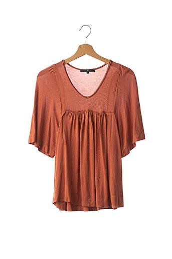 T-shirt manches courtes marron ISABEL MARANT pour femme