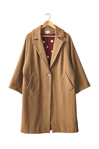 Manteau long marron BELLEROSE pour femme