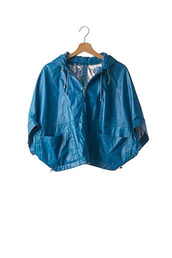 Veste en cuir bleu DOLCE VITALI pour femme