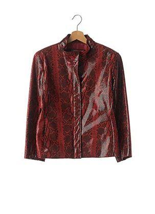Veste simili cuir rouge SERGIO MIMRANI pour femme