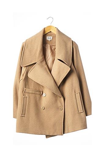 Manteau court beige BEL AIR pour femme