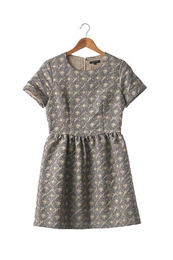 Robe courte gris TARA JARMON pour femme