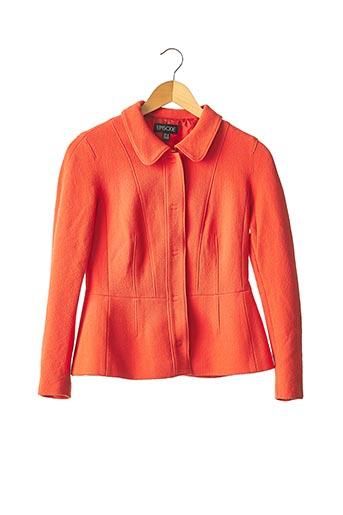 Veste chic / Blazer orange EPISODE pour femme