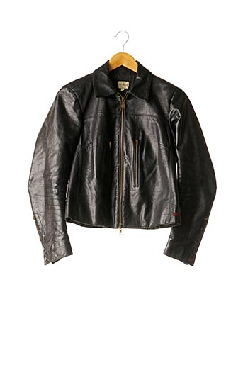 Veste en cuir noir CALVIN KLEIN pour femme