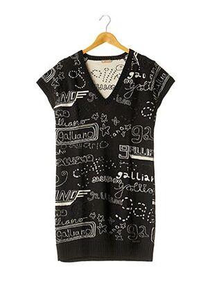 Robe pull noir GALLIANO pour femme
