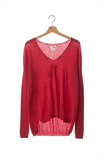 Pull col V rouge OTTOD'AME pour femme