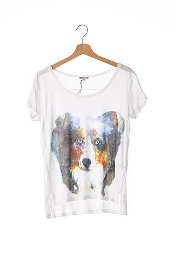T-shirt manches courtes blanc CLAUDIE PIERLOT pour femme