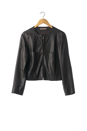 Veste en cuir noir ZAPA pour femme