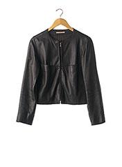 Veste en cuir noir ZAPA pour femme seconde vue