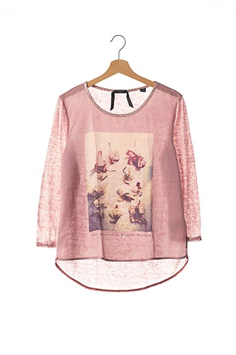 T-shirt manches longues rose MAISON SCOTCH pour femme