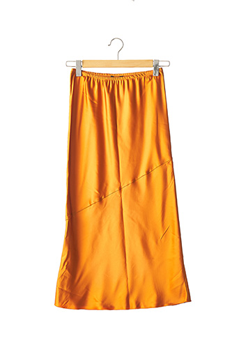 Jupe longue orange CARLAG. pour femme