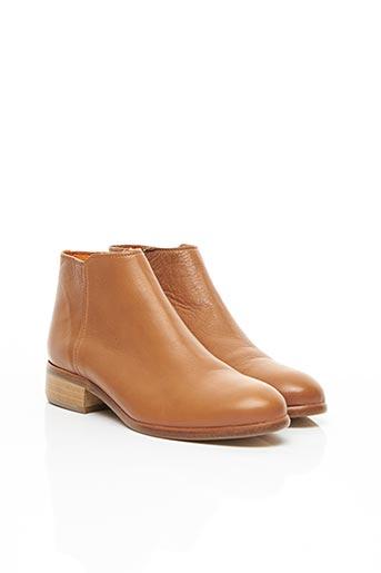 Bottines/Boots orange ATELIER BOWER pour femme