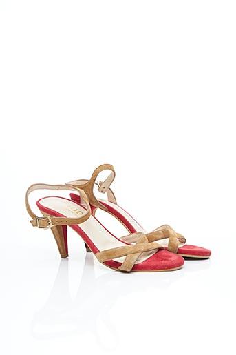 Sandales/Nu pieds rouge LODI pour femme