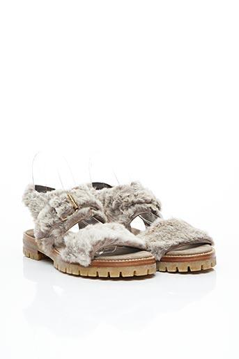 Sandales/Nu pieds gris ATTILIO GIUSTI LEOMBRUNI pour femme