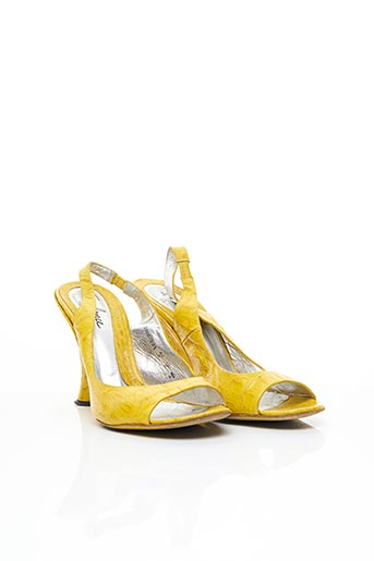 Sandales/Nu pieds jaune FREE LANCE pour femme