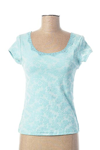 T-shirt manches courtes bleu ARIANNE pour femme