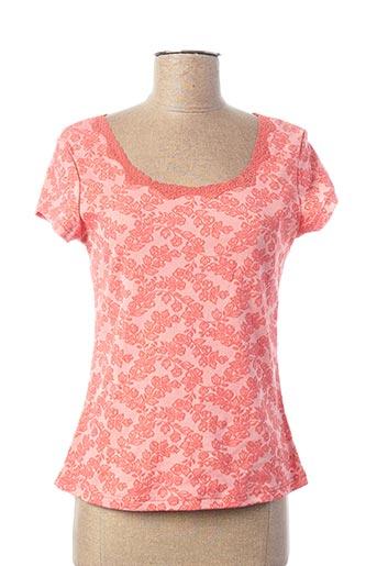 T-shirt manches courtes rose ARIANNE pour femme